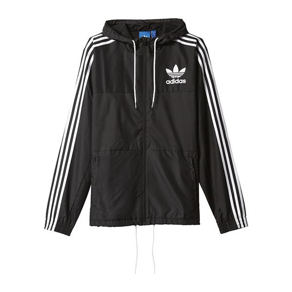 adidas originals clfn windbreaker jacke schwarz ebay. Black Bedroom Furniture Sets. Home Design Ideas