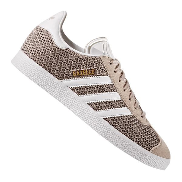 adidas originals gazelle sneaker damen grau weiss ebay. Black Bedroom Furniture Sets. Home Design Ideas