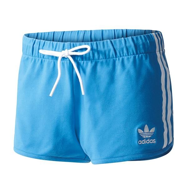 adidas originals slim short hose kurz damen blau. Black Bedroom Furniture Sets. Home Design Ideas