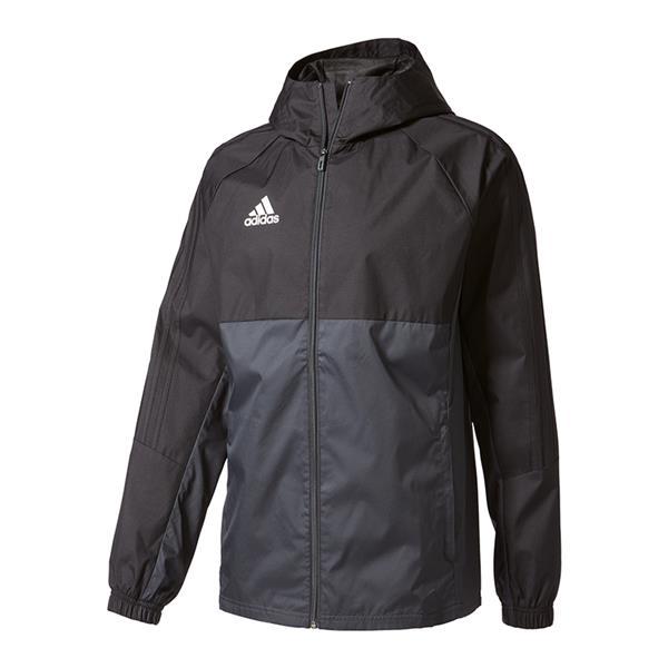Fußball adidas Tiro 17 Regenjacke Schwarz Grau