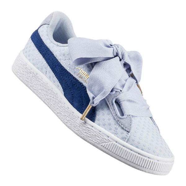 puma damen basket heart weiß