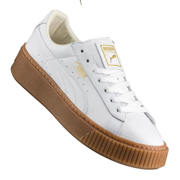 puma basket platform core sneaker damen weiss f01 ebay. Black Bedroom Furniture Sets. Home Design Ideas