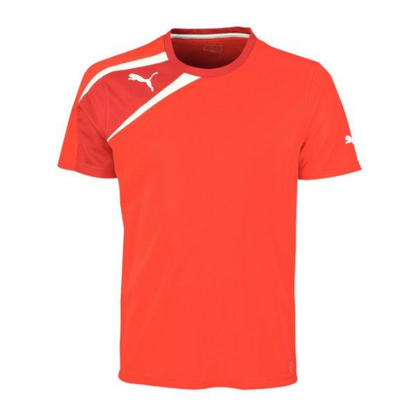 Puma Spirit T-Shirt Training Kids Rot Weiss F01 653586