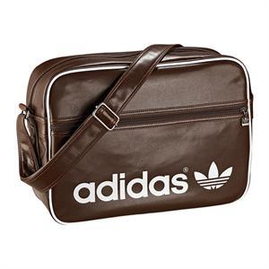 adidas airline bag retro tasche braun weiss ebay. Black Bedroom Furniture Sets. Home Design Ideas