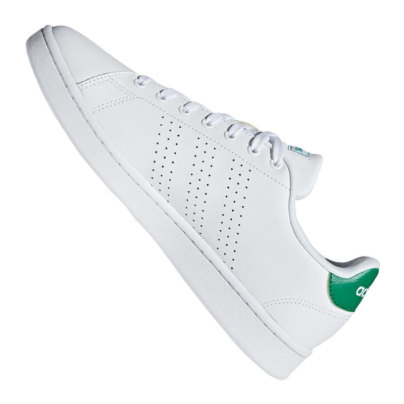 Indexbild 2 - adidas Advantage Sneaker Weiss Grün