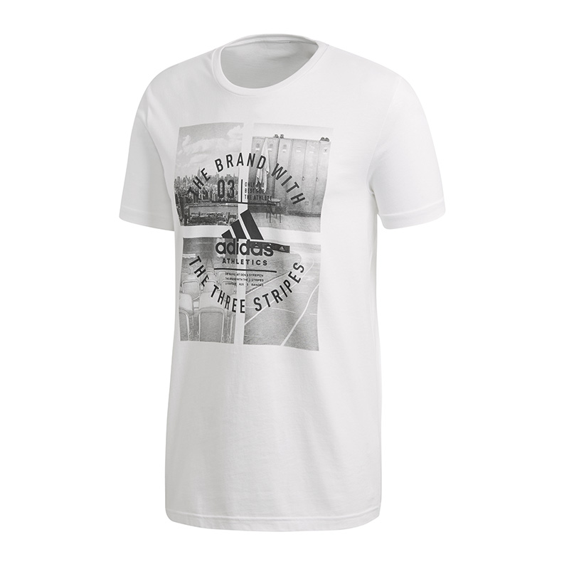 adidas-Athletic-Vibe-Tee-T-Shirt-Weiss