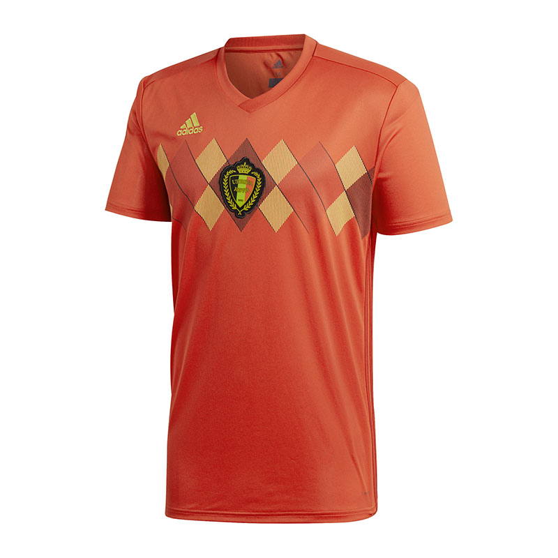 Adidas Belgium Home Jersey Kids World Cup 2018 Red
