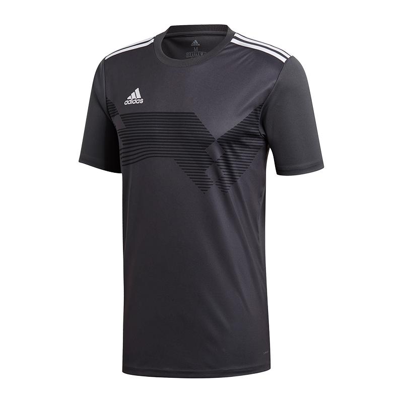 Adidas-Campeon-19-Camiseta-Gris-Blanco