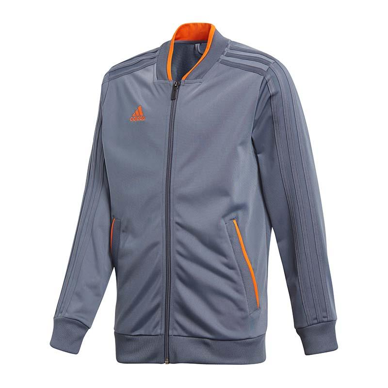 af4662fc952f Adidas Condivo 18 Polyester Jacket Kids Gray Orange   eBay