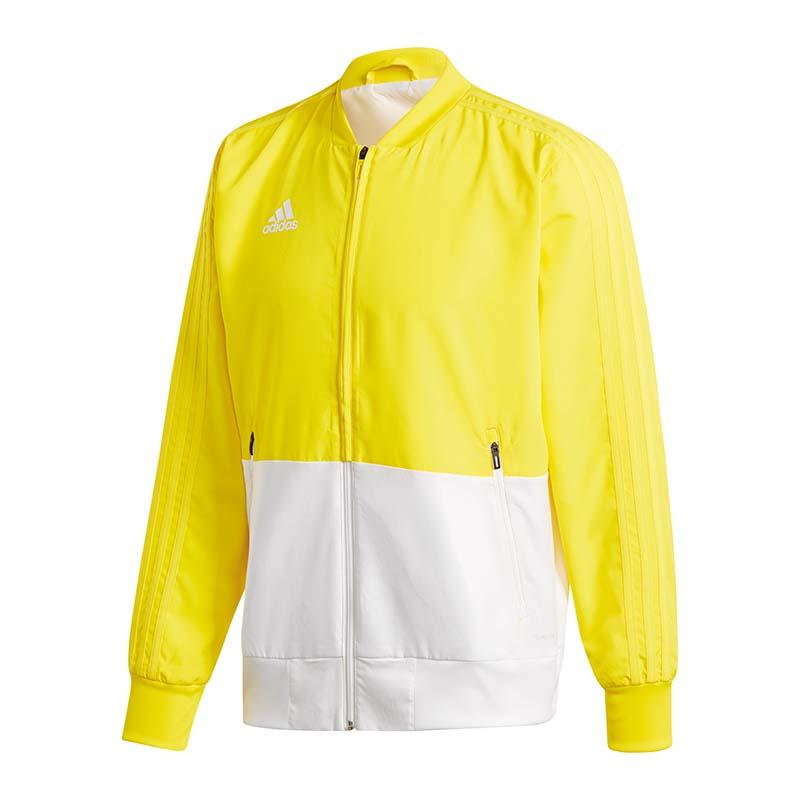 Actif Adidas Condivo 18 Veste De Présentation Jaune Blanc Une Gamme ComplèTe De SpéCifications