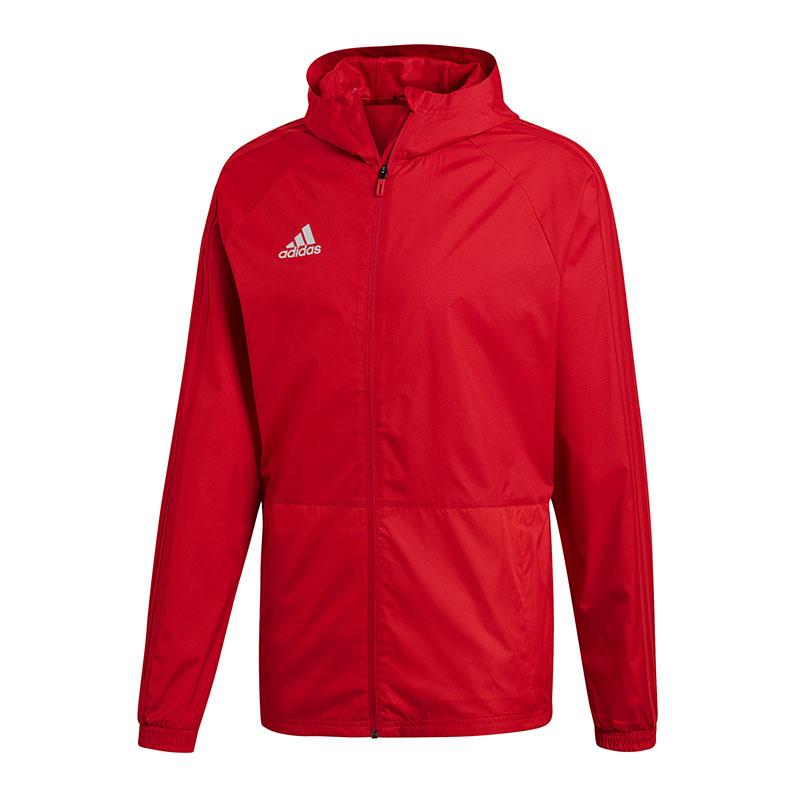 Adidas Condivo 18 Chaqueta de Lluvia Chaqueta Impermeable red whiteo