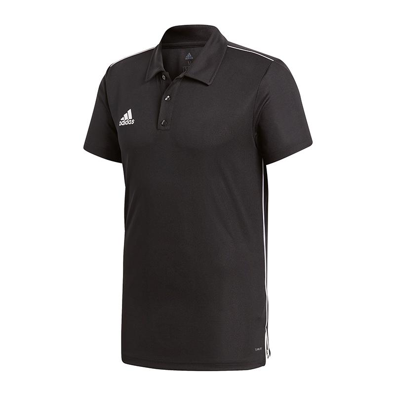 adidas-Core-18-ClimaLite-Poloshirt-Schwarz-Weiss