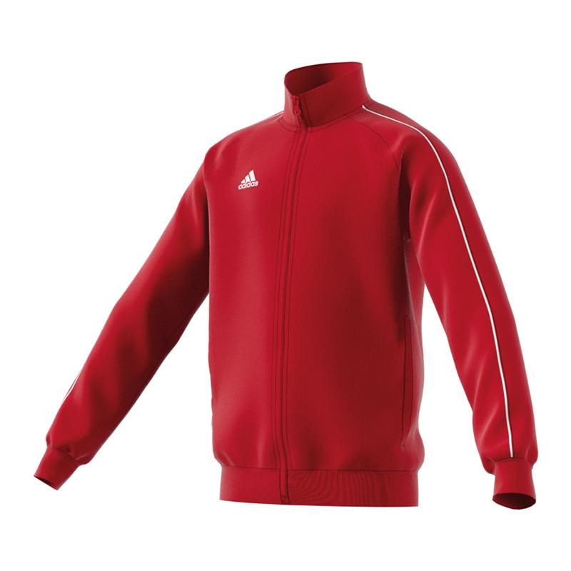 Adidas Core 18 Veste En Polyester Enfants Blanc Rouge
