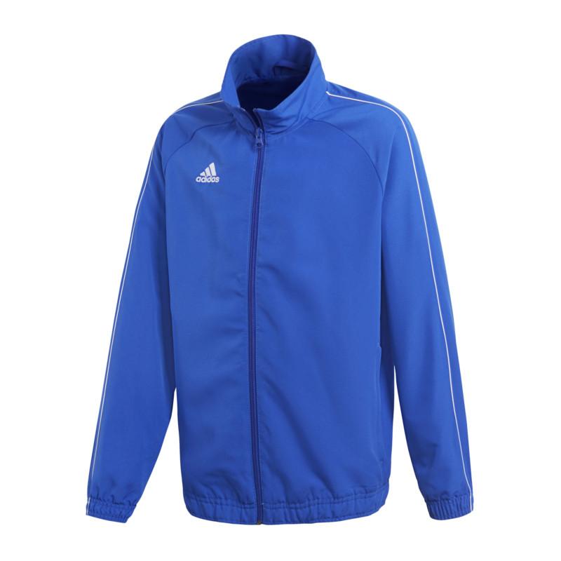 Caricamento dell immagine in corso Adidas-Core-18-GIACCA -PRESENTAZIONE-bambini-Blu-Bianco e18d0fcf88e0