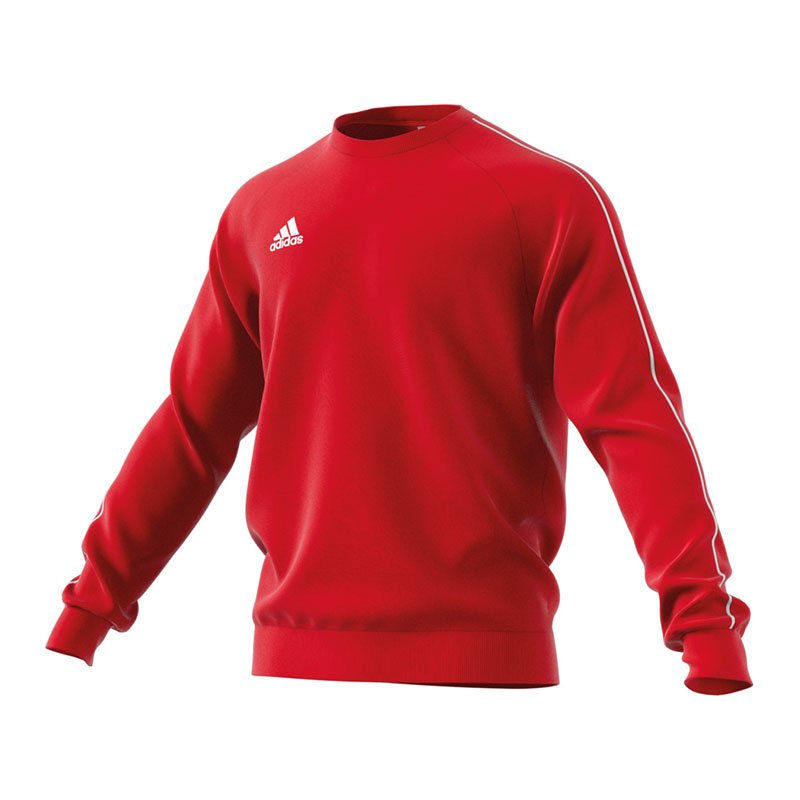 adidas Core 18 Sweat Top Rot Weiss