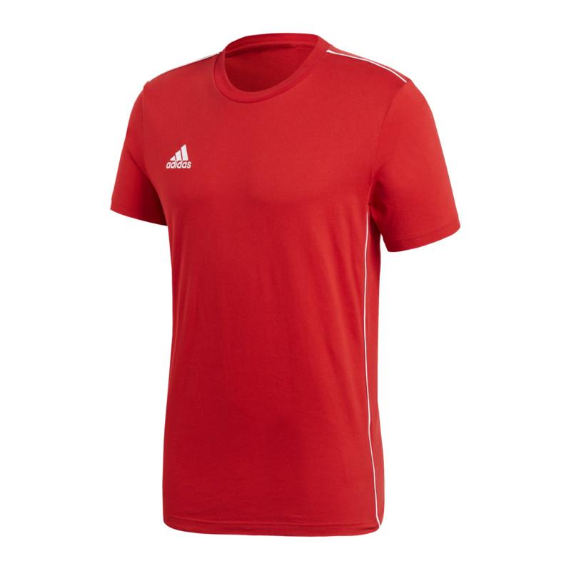 100% De Qualité Adidas Core 18 Tee T-shirt Blanc Rouge