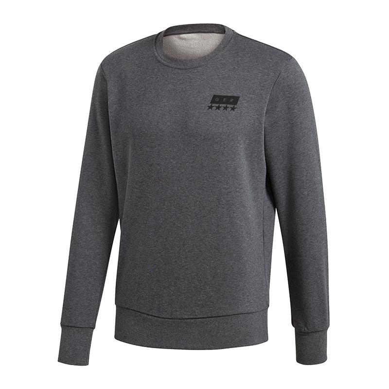 adidas dfb deutschland sgr crew sweatshirt grau ebay. Black Bedroom Furniture Sets. Home Design Ideas