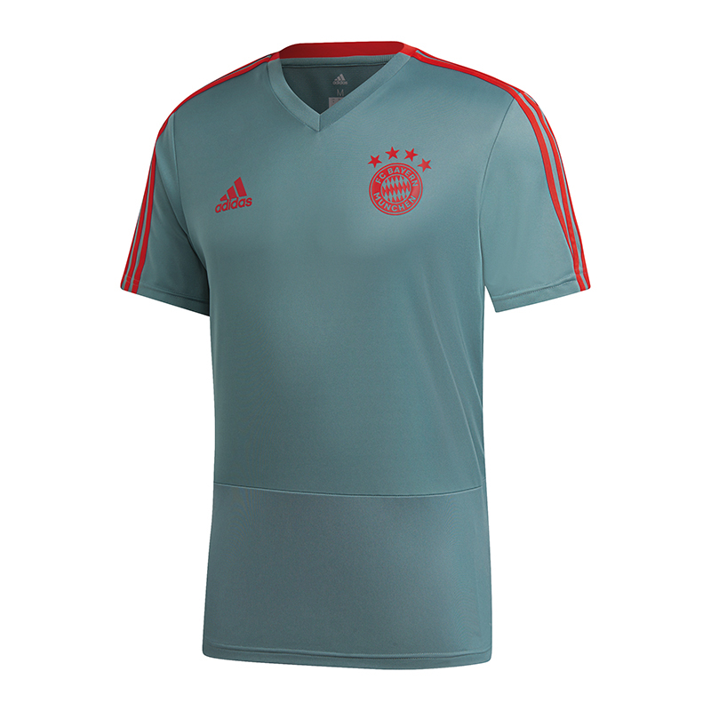 Details zu adidas FC Bayern München Training T Shirt Grün