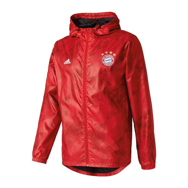 adidas fc bayern m nchen windbreaker jacke rot eur 37 48. Black Bedroom Furniture Sets. Home Design Ideas