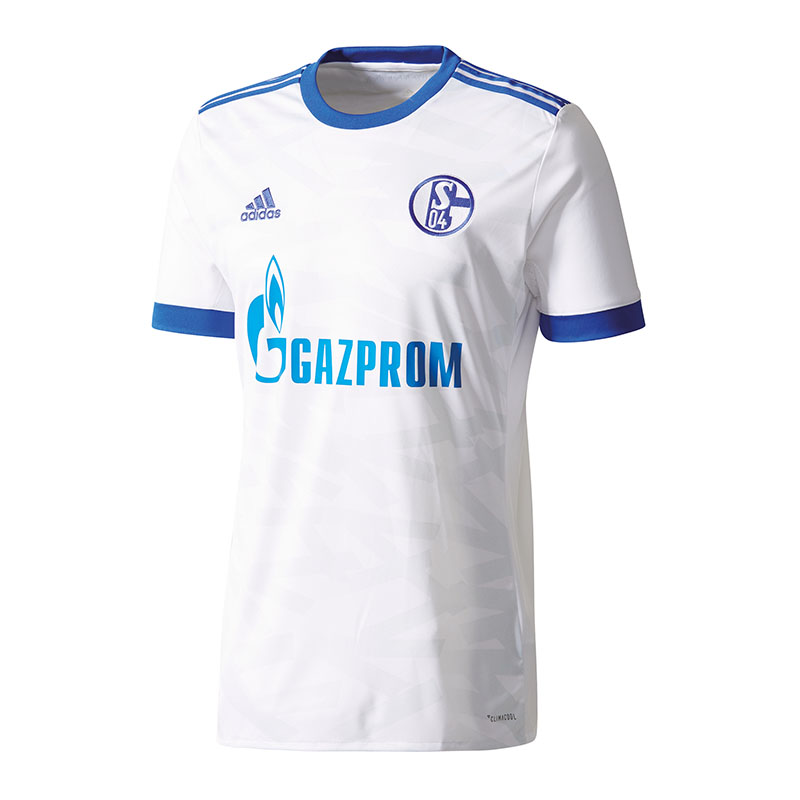 Adidas FC Schalke 04 Camiseta de Fuera Niños 17 18 whiteo