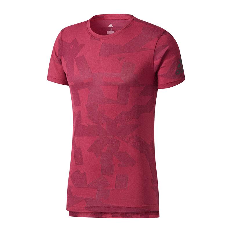 adidas-Freelift-Elevated-T-Shirt-Rot