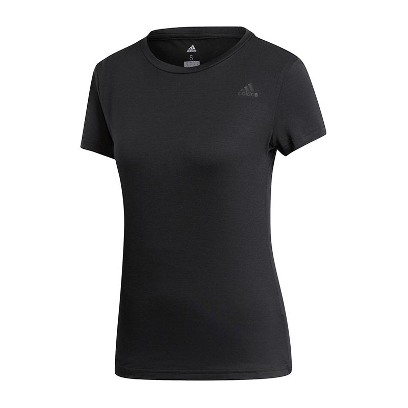 fc17a3cde28cf5 Das Bild wird geladen adidas-FreeLift-Prime-Tee-T-Shirt-Damen-Schwarz