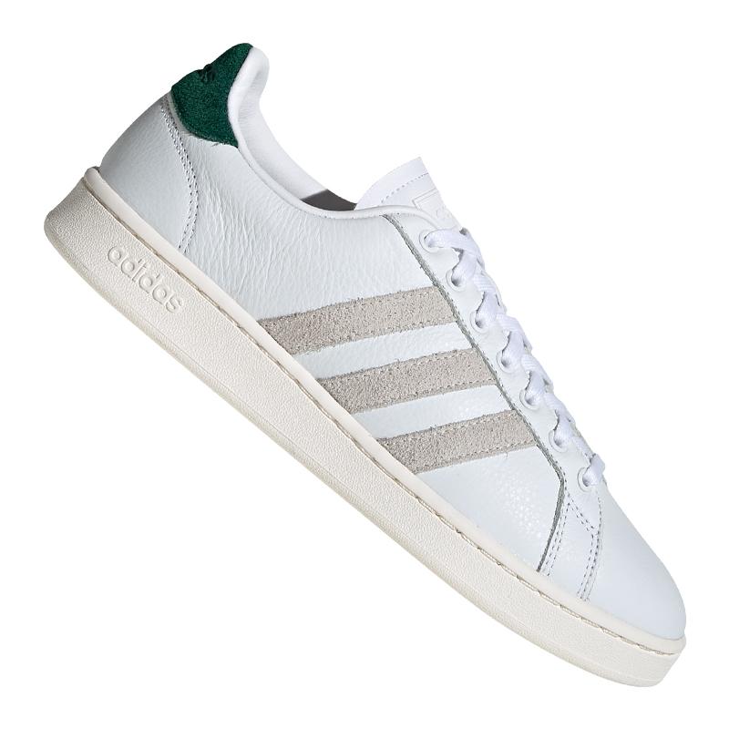 Dettagli su Adidas Grand Court Sneakers Bianco Grün