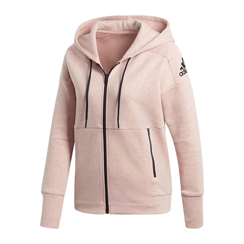 Details about Adidas Id Stadium Hooded Jacket Women Rose