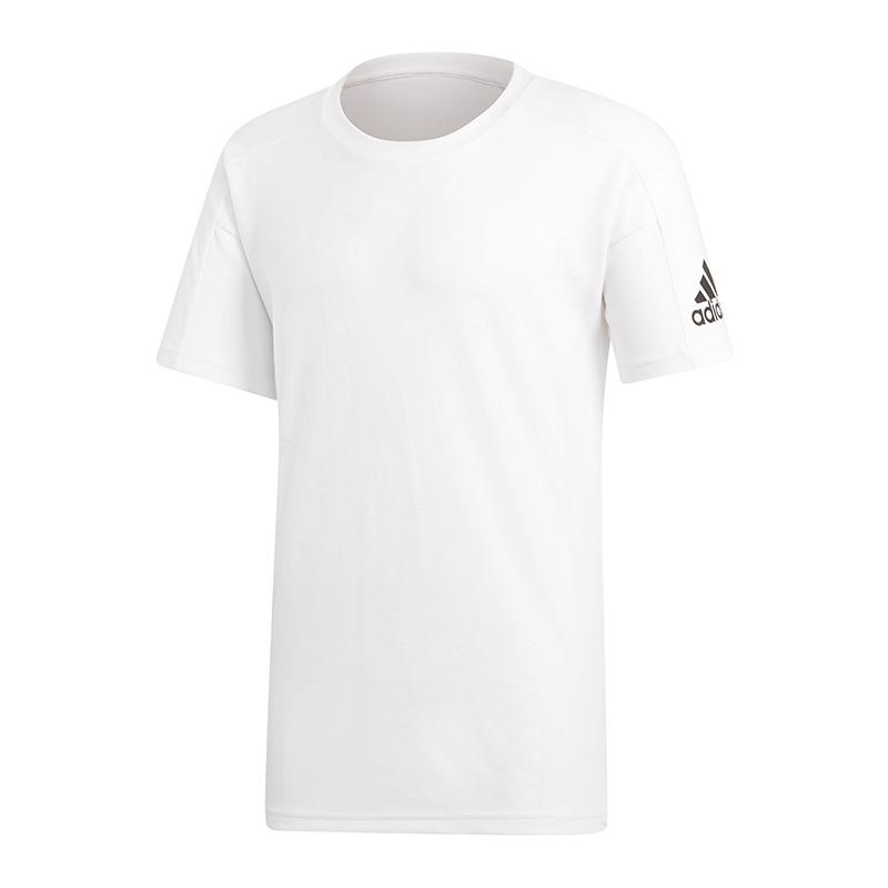 Detalles de Adidas Identificación Stadium Camiseta Blanco