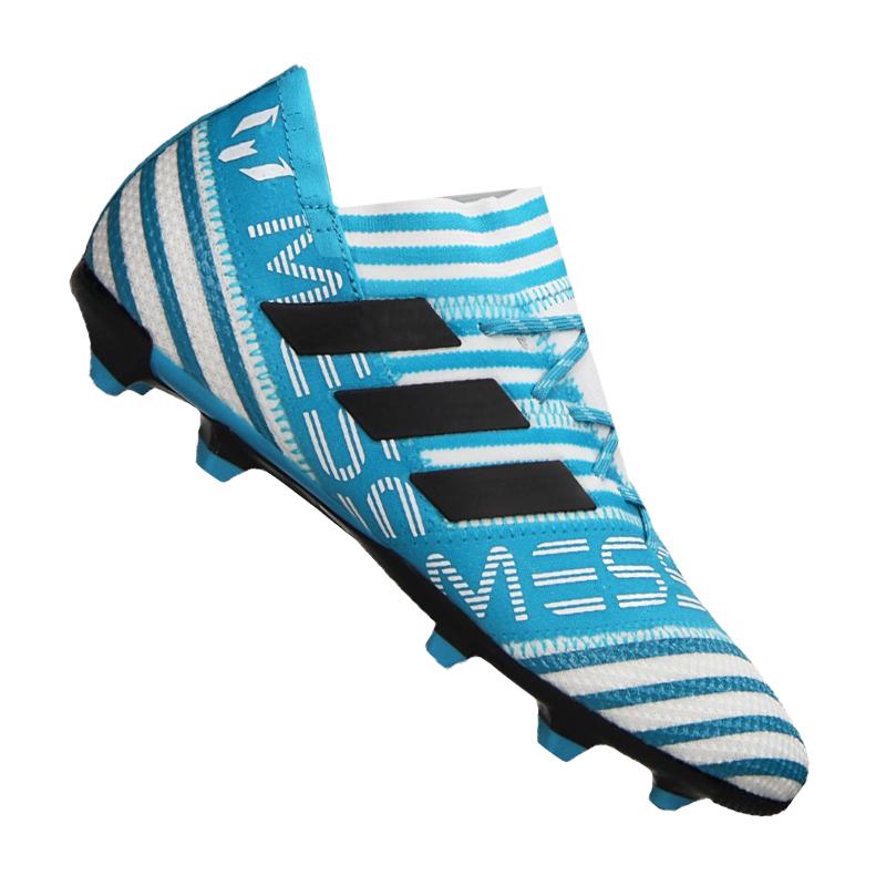 Adidas nemeziz 17.1 FG J Kids White bluee