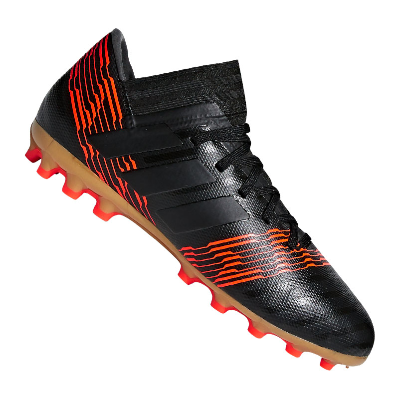 Image is loading Adidas-nemeziz-17-3-AG-J-Kids-Black- 3ad343dcb
