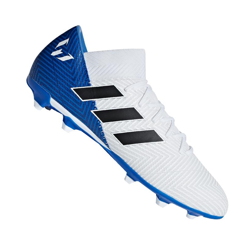 new product 1e95b 60c66 Caricamento dell immagine in corso Adidas-Nemeziz-Messi-18-3-Fg-Bianco-Blu