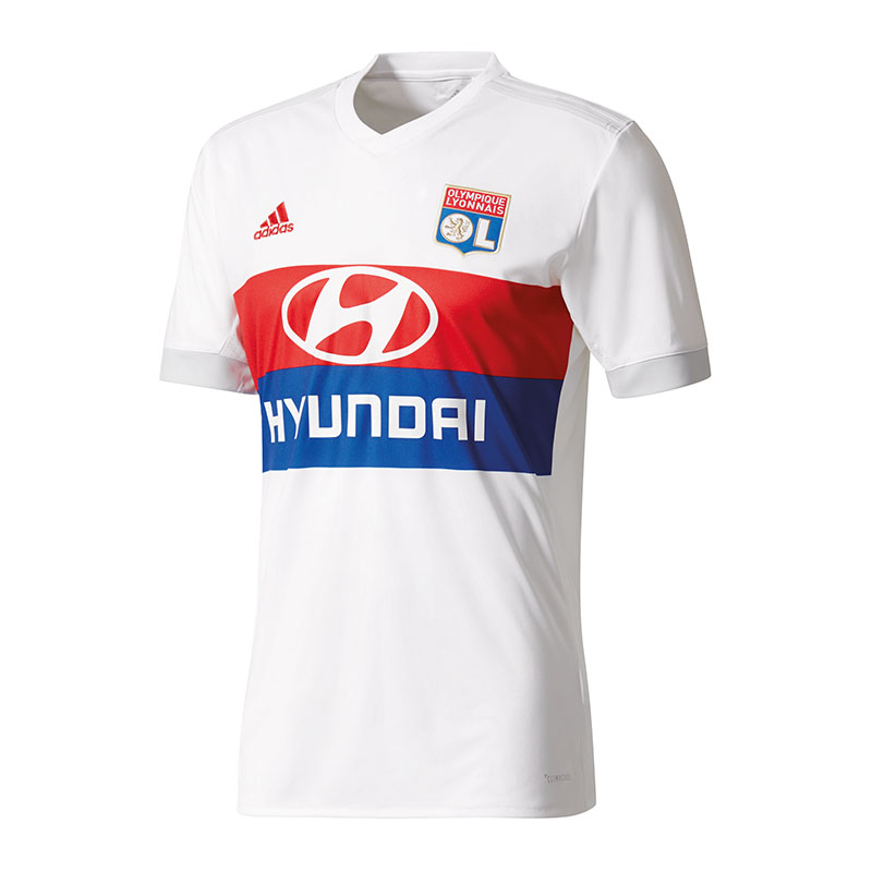 pretty nice de932 2e8de Adidas Olympique Lyon Maillot Maison 20172018 Blanc