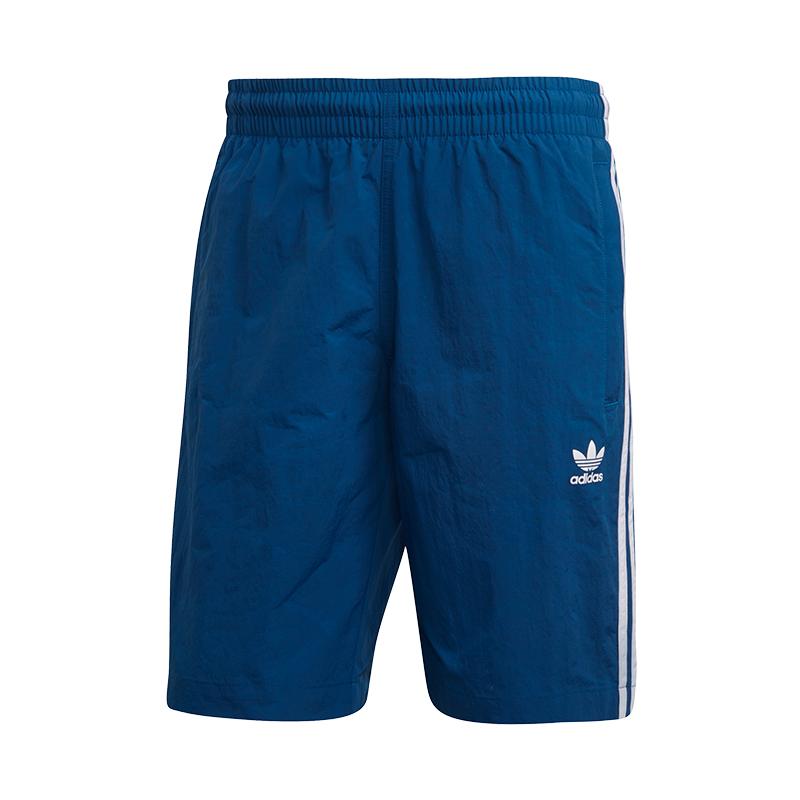 Adidas Originals 3 Strisce Calzoncini da Bagno Blu