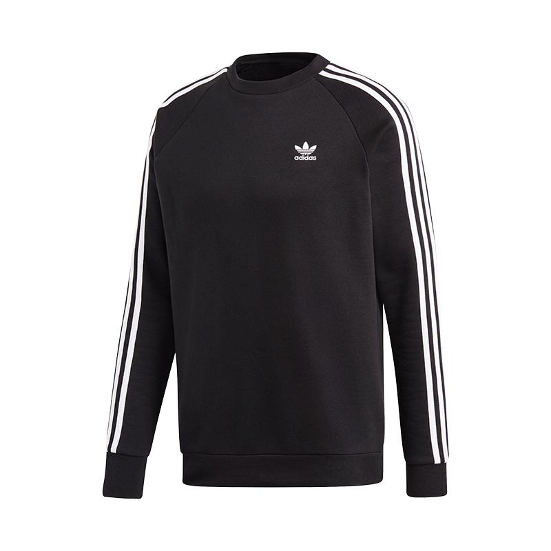 Schwarz Stripes Originals 3 Sweatshirt Crew Adidas S7v0AqR