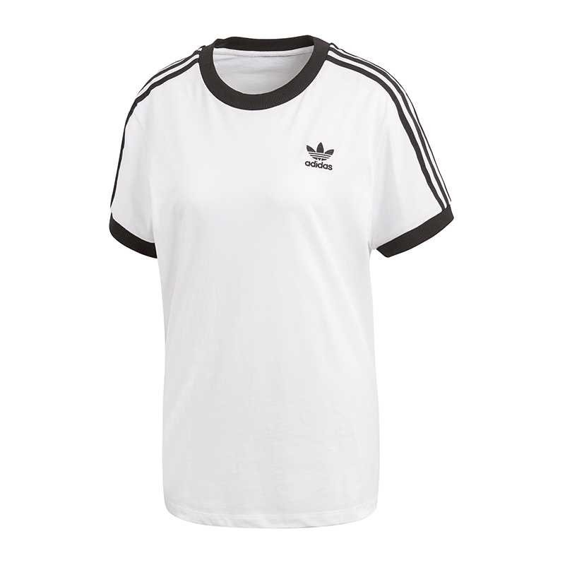 adidas originals 3 stripes t shirt damen weiss ebay. Black Bedroom Furniture Sets. Home Design Ideas