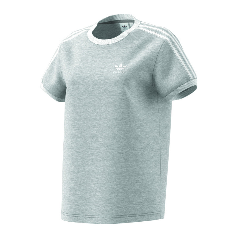 1ec1363443dd adidas Originals 3 Stripes Tee T-Shirt Damen Grau   eBay