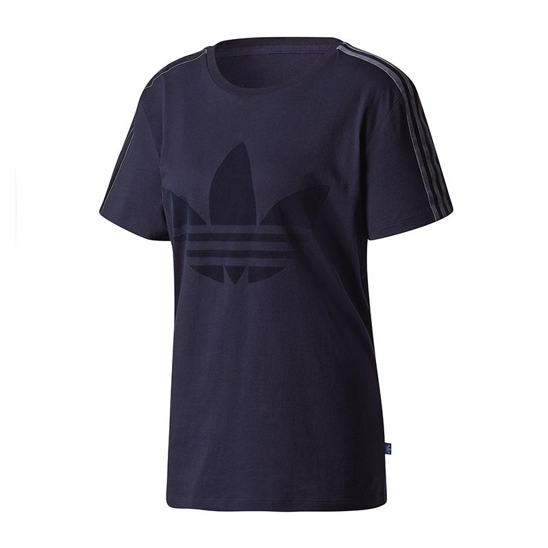 74539d43401 Adidas Originals Bf Trefoil Tee T-Shirt Femmes Bleu