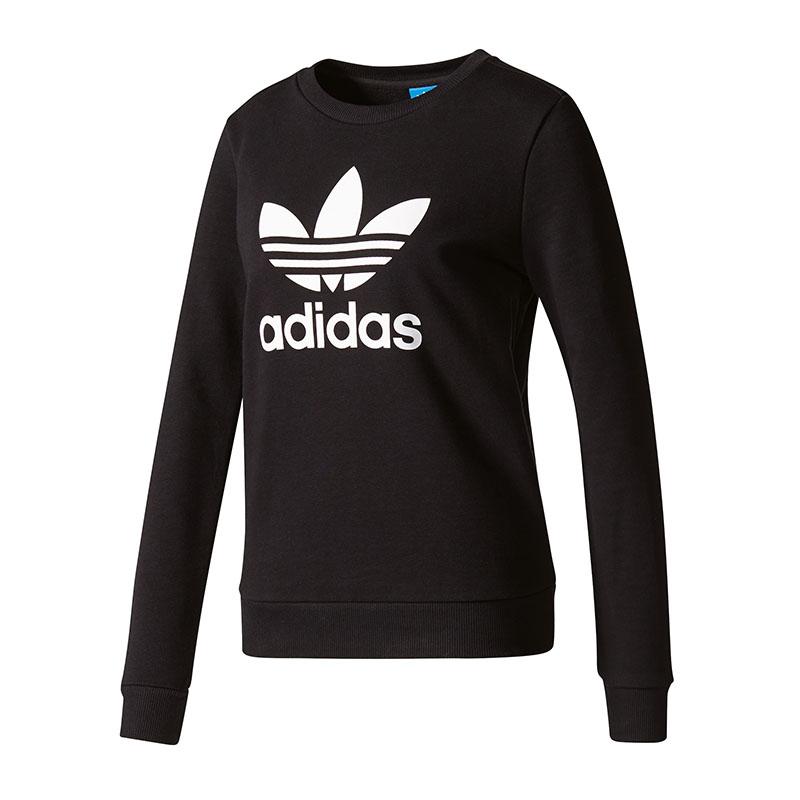 Sweat Adidas Crew Schwarz Damen Originals lKT1cFJ