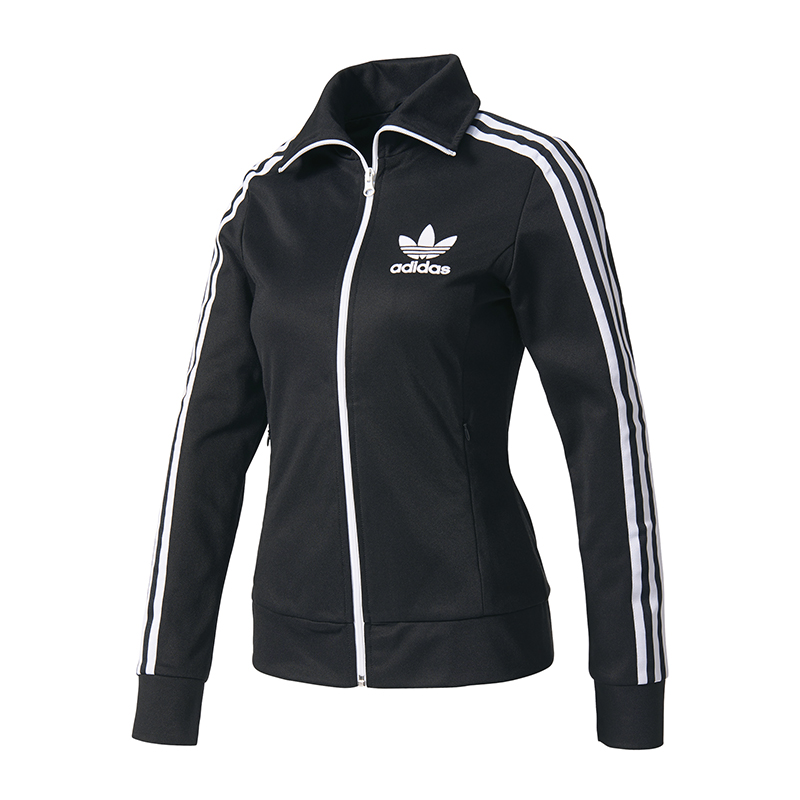 adidas originals europa tt jacke damen schwarz ebay. Black Bedroom Furniture Sets. Home Design Ideas
