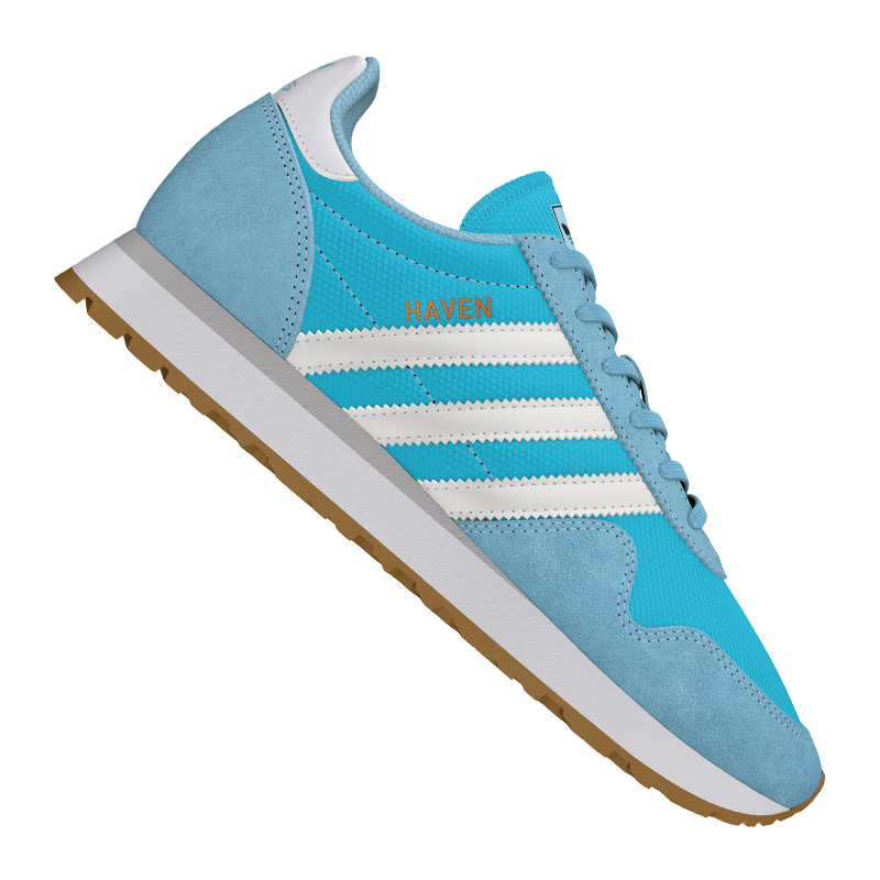 Adidas-Originals-Haven-Sneaker-Women-039-s-Blue-White