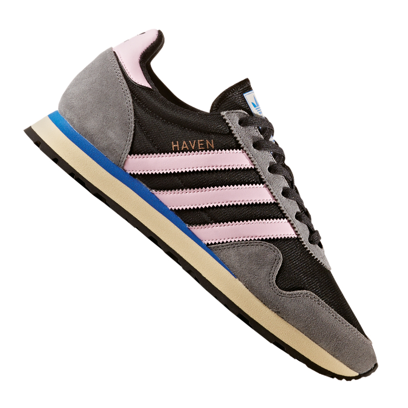 Adidas-Originals-Haven-Sneaker-Women-039-s-Black-Rose