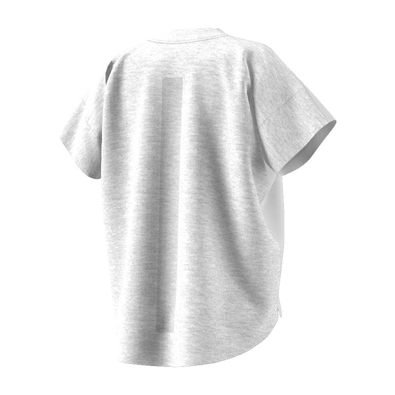 adidas-Originals-Icon-Tee-T-Shirt-Damen-Weiss-Grau