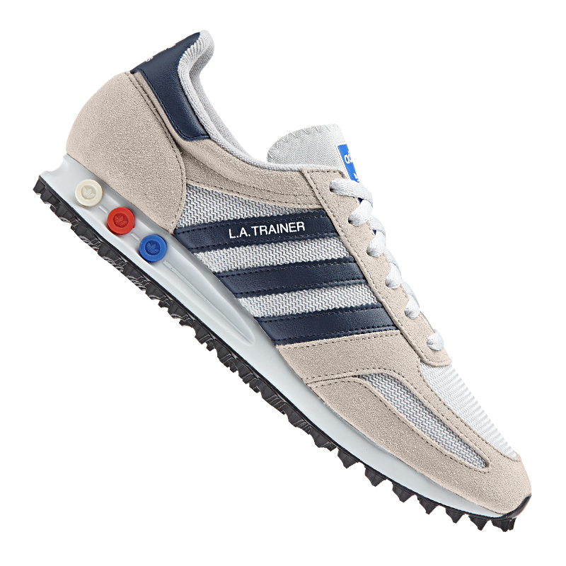 adidas Originals LA Trainer Sneaker Beige Blau