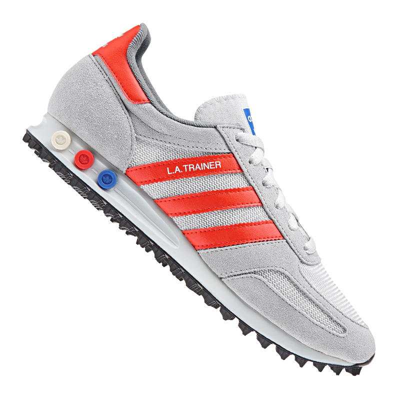 ADIDAS ORIGINALS LA TRAINER SNEAKER GRIS ORANGE