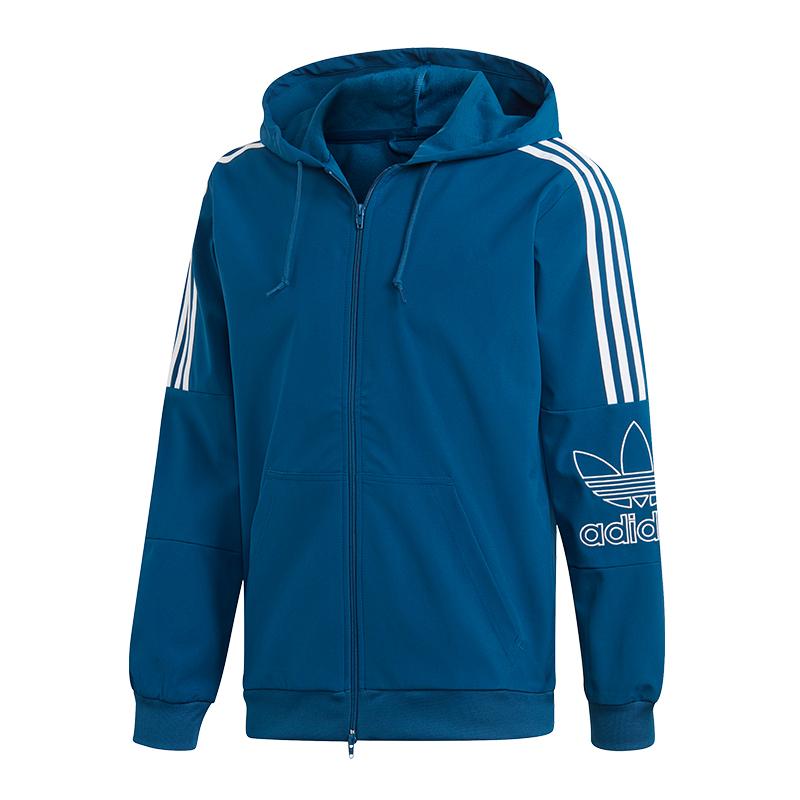 Adidas Originals Outline Kapuzenjacke Blau Neue Sorten Werden Nacheinander Vorgestellt