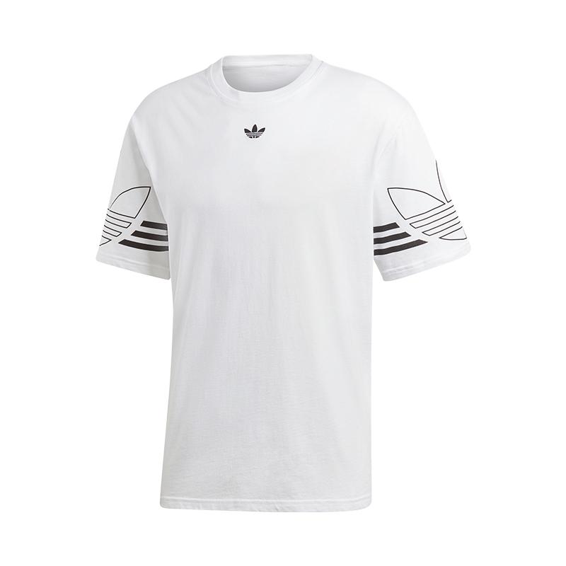 adidas-Originals-Outline-Tee-T-Shirt-Weiss-Schwarz
