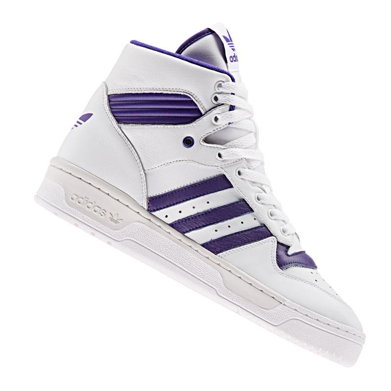 Détails sur Adidas Originals Rivalry Baskets Blanc Violet