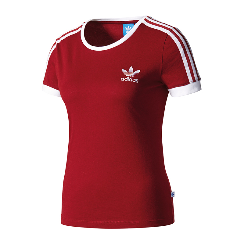 adidas originals sandra 1977 tee t shirt damen rot ebay. Black Bedroom Furniture Sets. Home Design Ideas