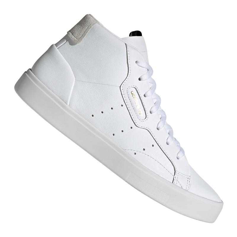 Détails sur Adidas Originals Sleek Baskets Mid Femmes Blanc